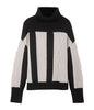 MAINE - Black & White Chunky Knit Turtleneck