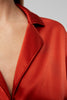 Yaitte OAKUM Red Boxy Satin Shirt