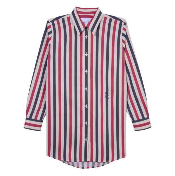 BUOY - Blue & Red Striped Shirt