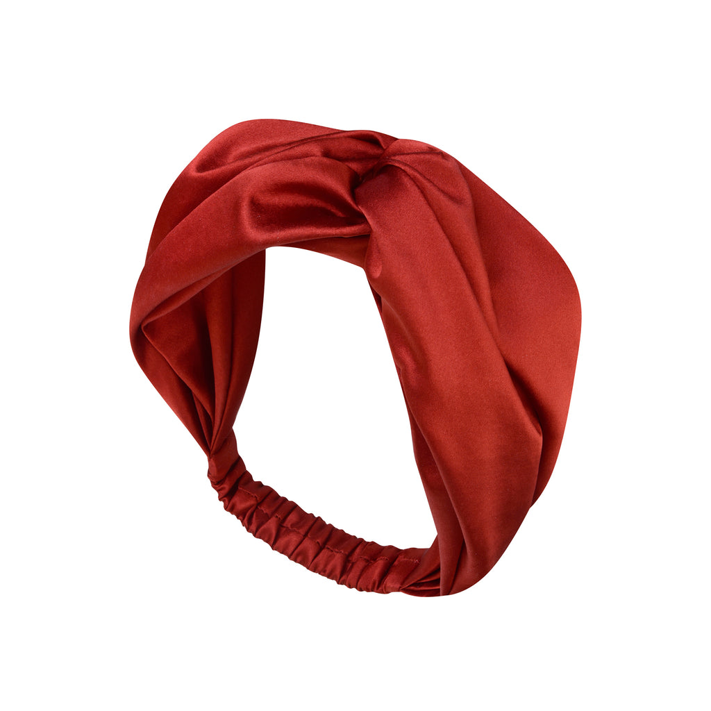 Yaitte BOW red silk turband