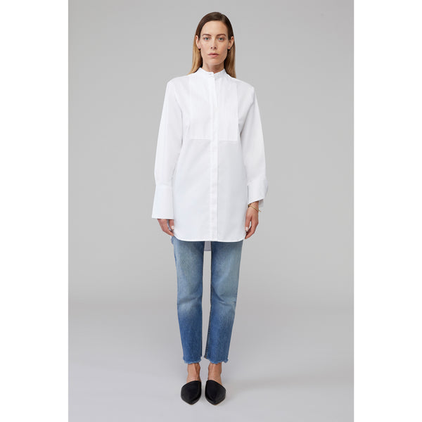DECK - Pin-Tuck Bib Shirt