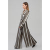 Yaitte PATROON stripe long sleeved silk jumpsuit