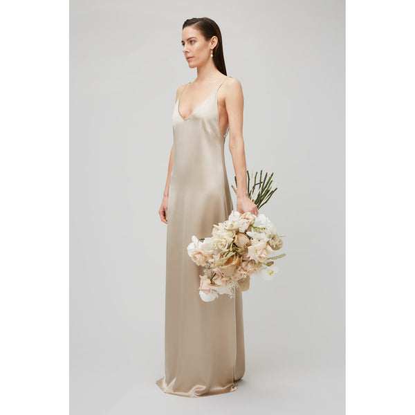 Maxi Silk Satin Slip Dress Bridal Yaitte