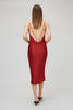 Red Silk Satin Slip Dress Yaitte
