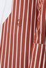 Red and White Striped Bib Shirt Detail Yaitte