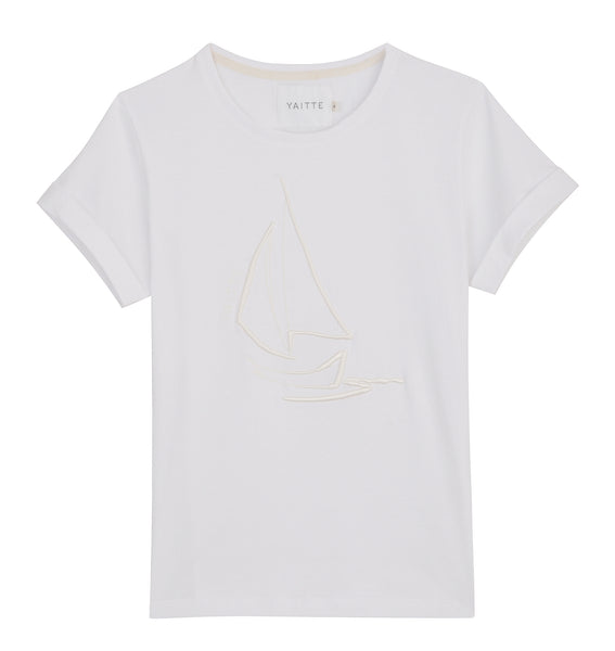 BOAT White Organic Cotton Tshirt