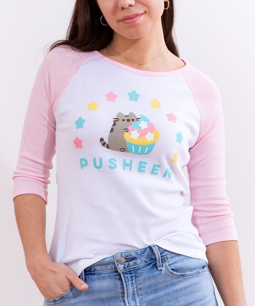 Pusheen 10th Anniversary Ladies Raglan