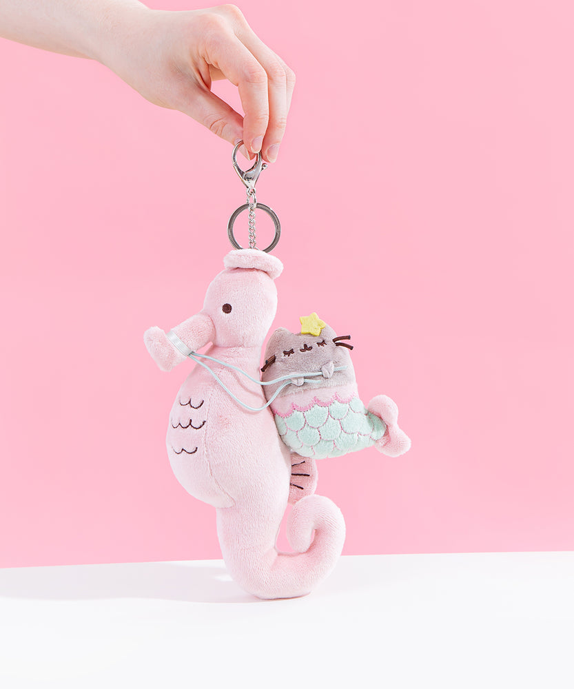 Mermaid Pusheen Deluxe Plush Keychain