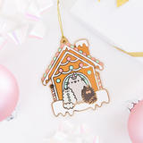 Limited Edition Pusheen Gingerbread House Ornament