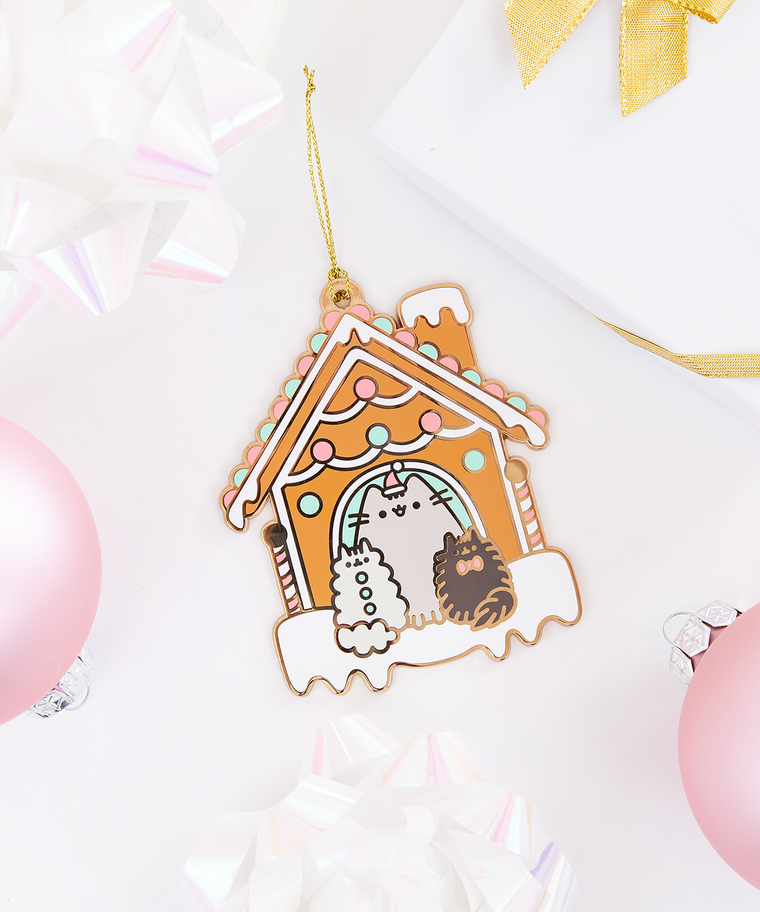 Limited Edition Pusheen Gingerbread House Metal Ornament