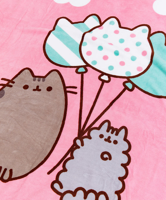 Balloon Pusheen Plush Throw Blanket