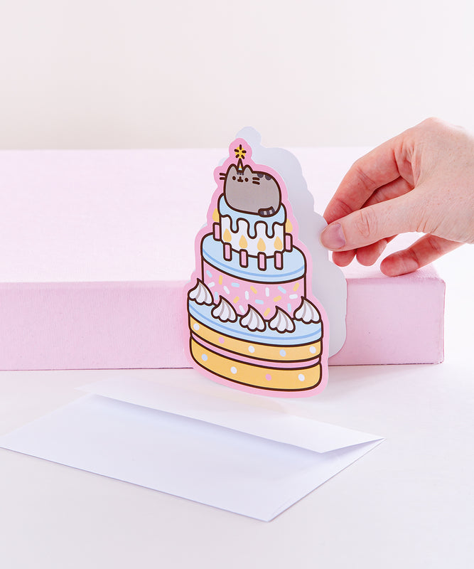 Pusheen Birthday Cake Card
