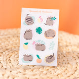 Botanical Pusheen Sticker Sheet