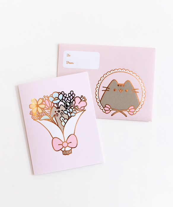 Pusheen Bouquet Foil Card