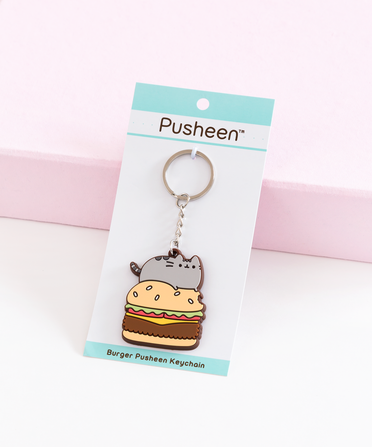 Burger Pusheen Keychain