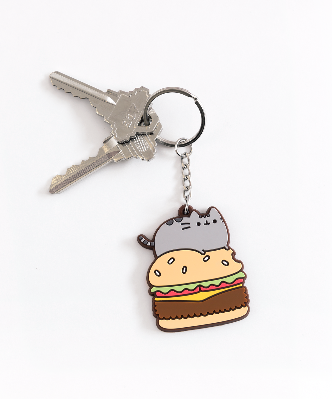 Burger Pusheen Keychain Hey Chickadee