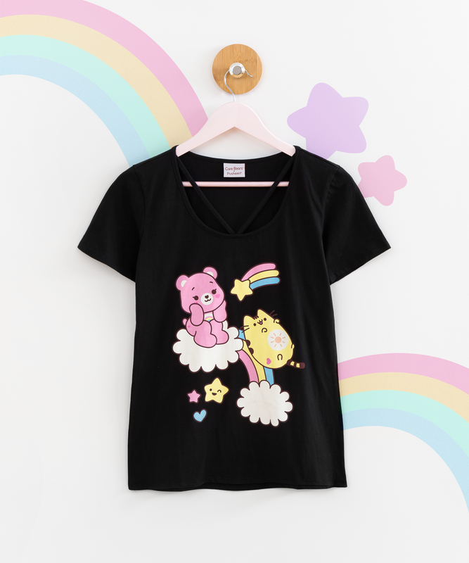 Care Bears x Pusheen Ladies Tee