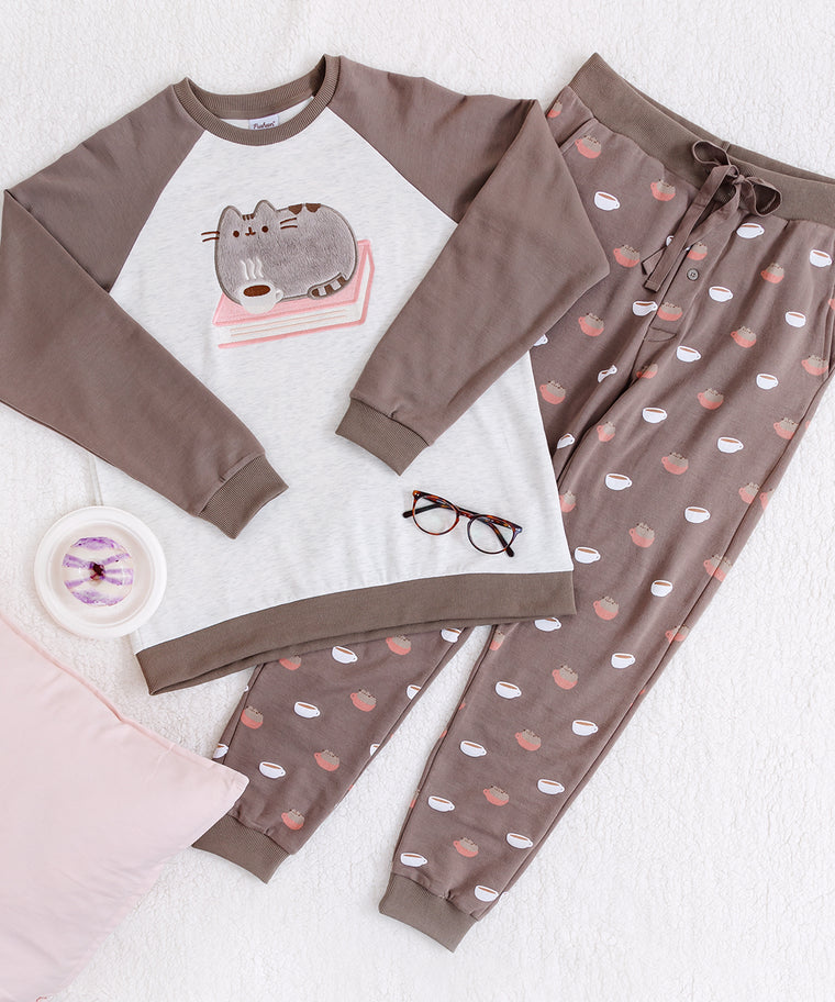 Cafe Pusheen Unisex Pajama Set