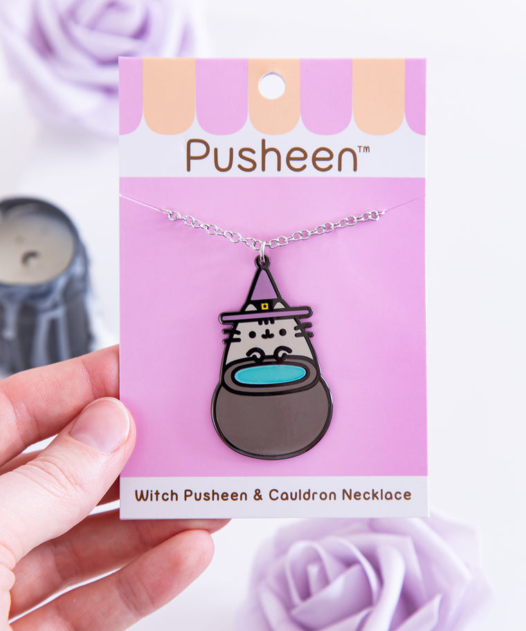 Witch Pusheen & Cauldron Necklace