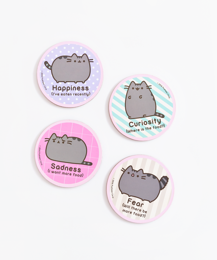 Pusheen Emotion Coaster Set