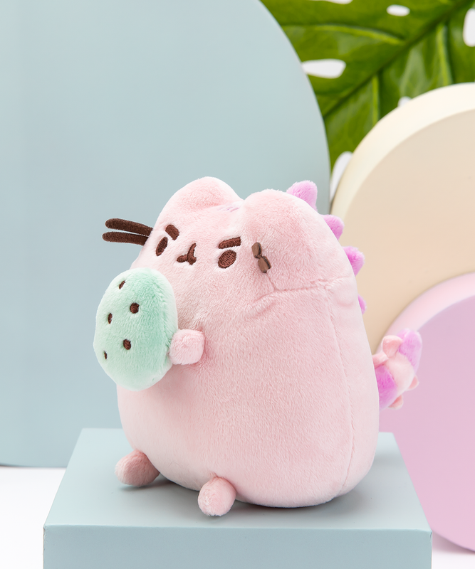 Cotton Candy Pusheenosaurus Plush with Egg