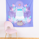 Pusheenicorn Crystal Caverns Tapestry