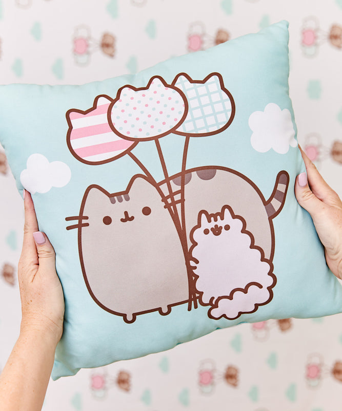 Pusheen & Stormy Throw Pillow