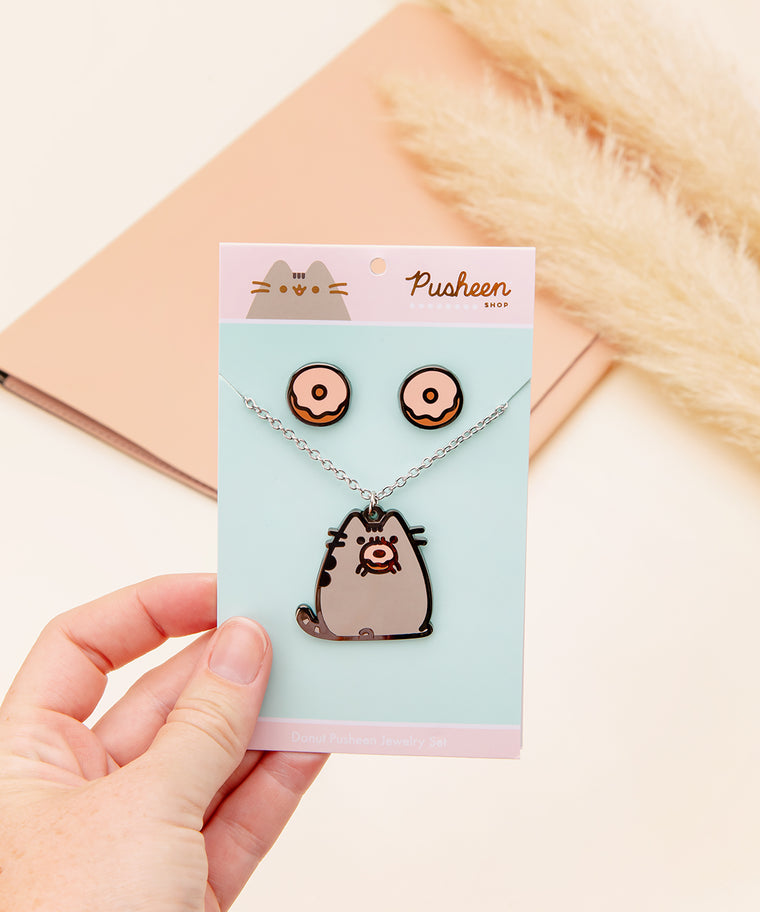 Donut Pusheen Jewelry Set