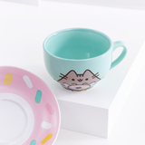 Donut Pusheen Teacup & Saucer Set