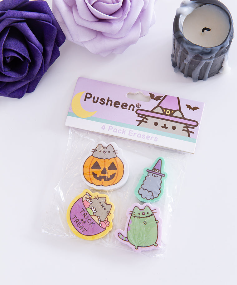 Pusheen Halloween 4-Pack Eraser Set