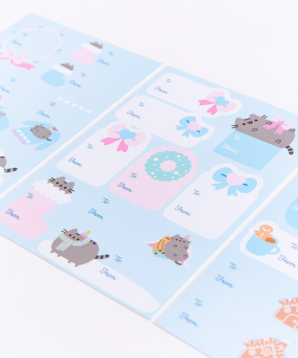 Pusheen Holiday Gift Labels