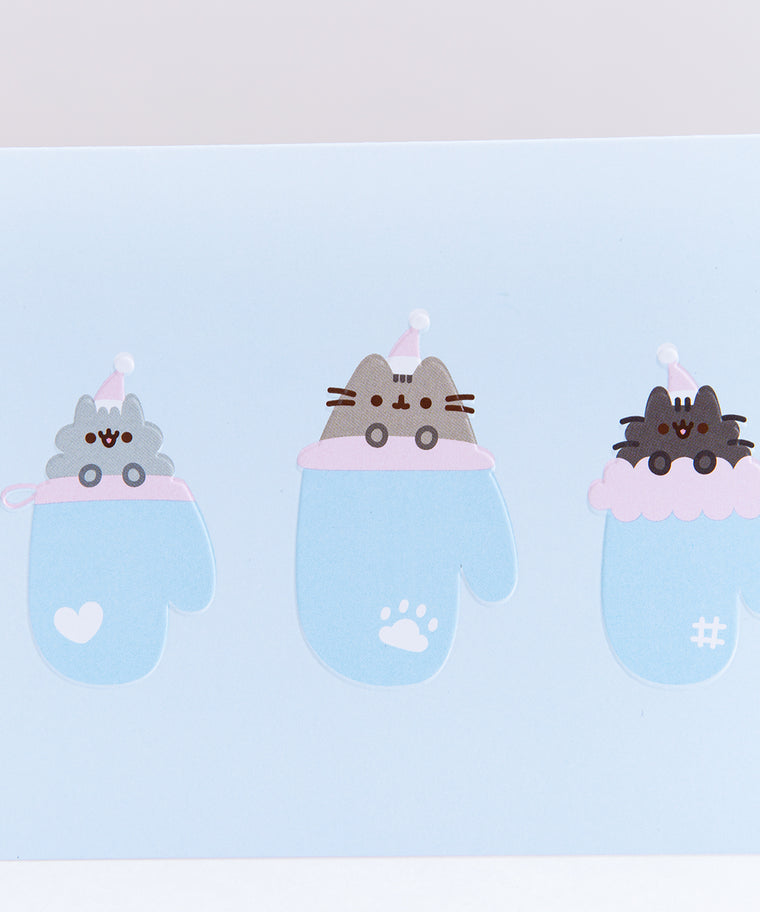 Pusheen Kittens in Mittens Holiday Card