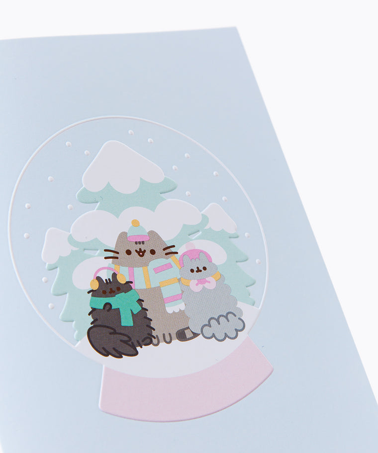 Pusheen Snowglobe Holiday Card