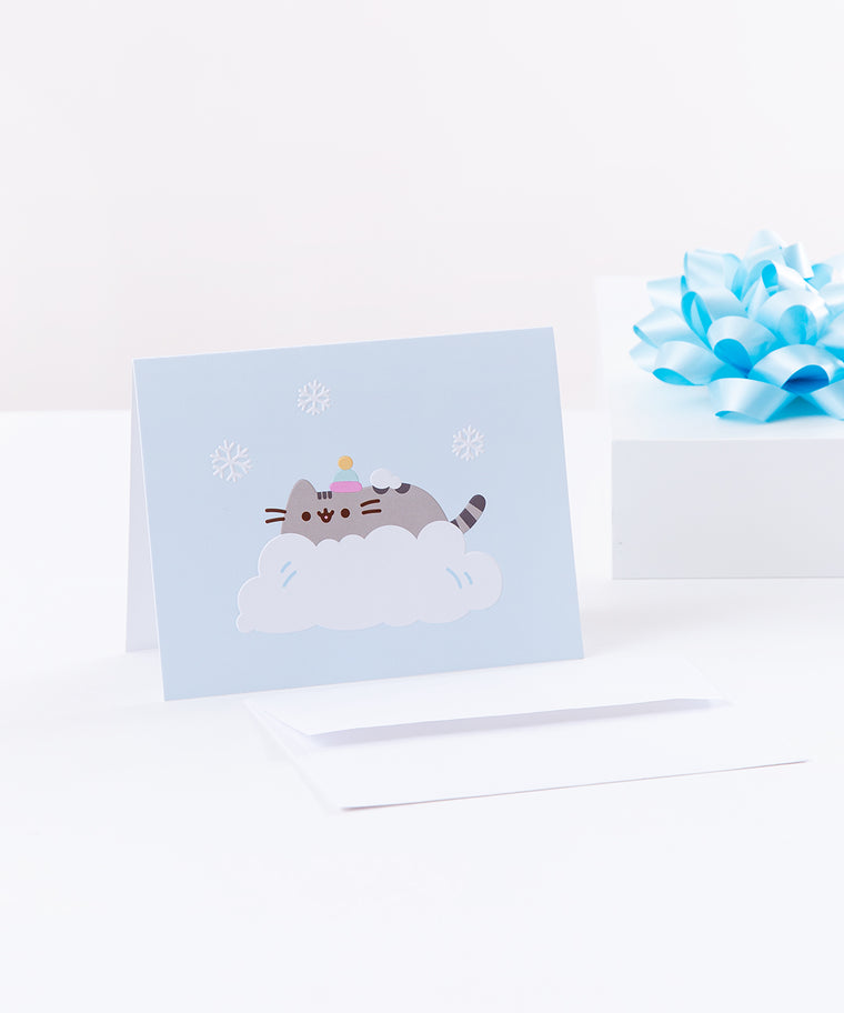 Snowy Pusheen Holiday Card