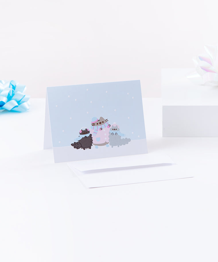 Pusheen Winter Wonderland Holiday Card