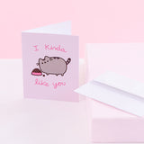 Pusheen I Kinda Like You Card