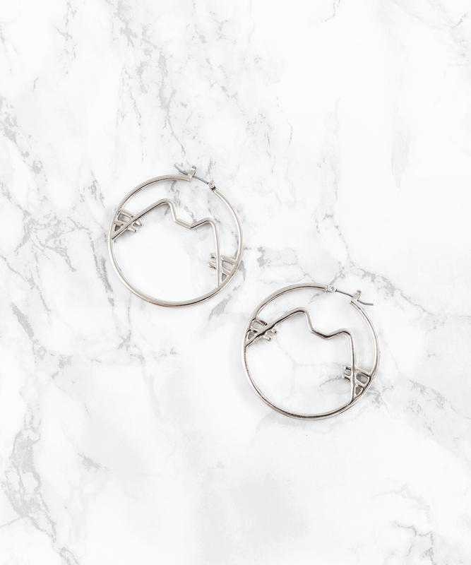 Pusheen Hoop Earrings