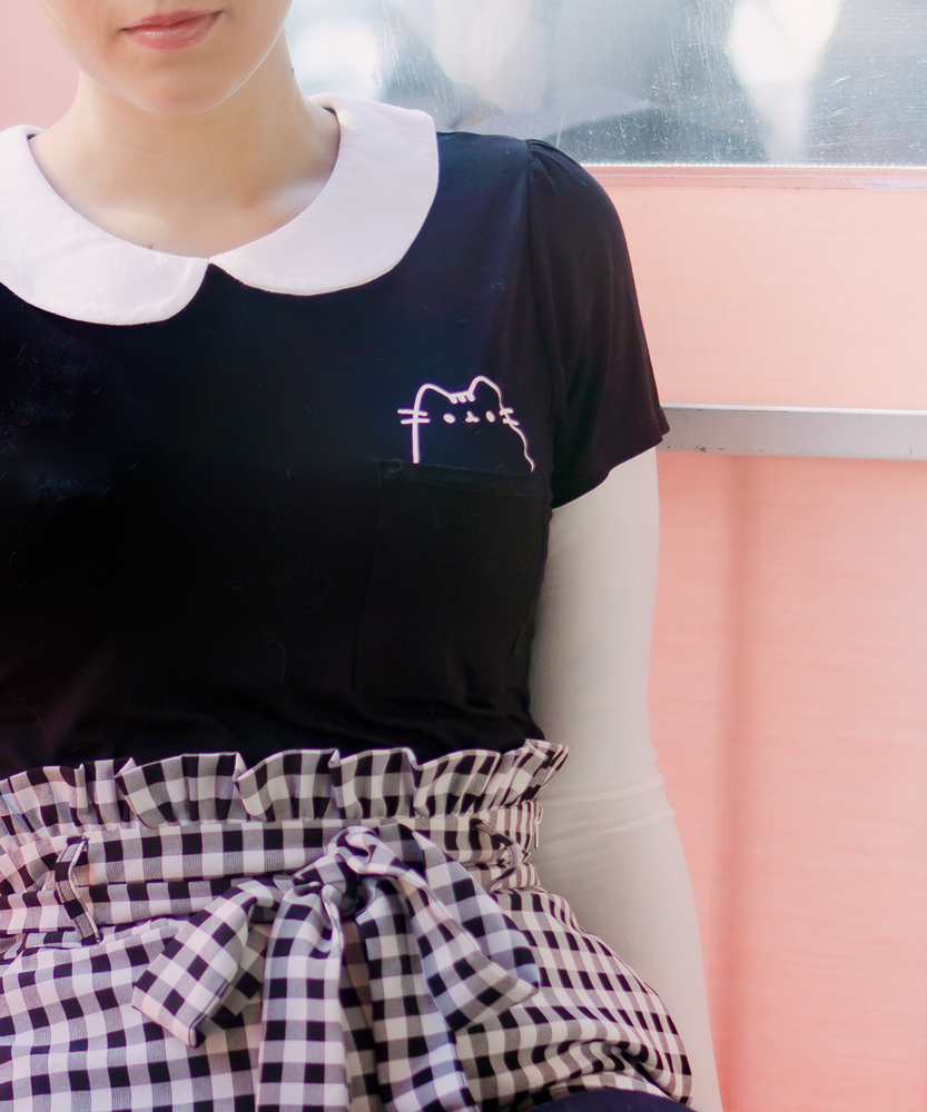 Pusheen Ladies Collared Pocket Tee