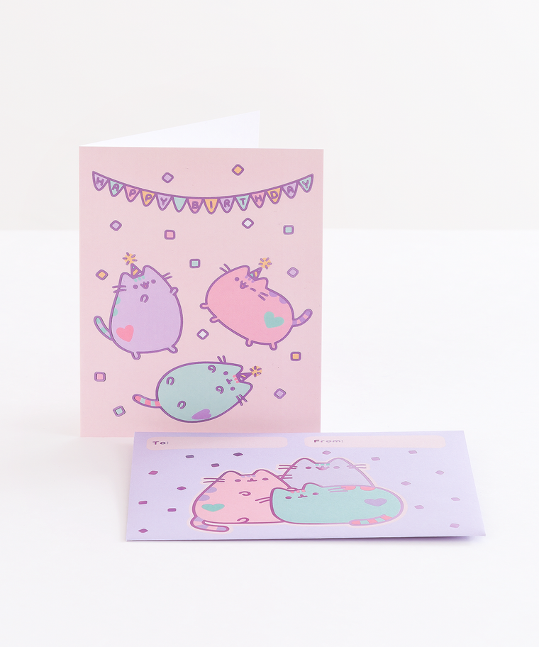 Pastel Pusheen Foil Birthday Card