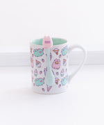Pastel Pusheen Mug with Stirrer