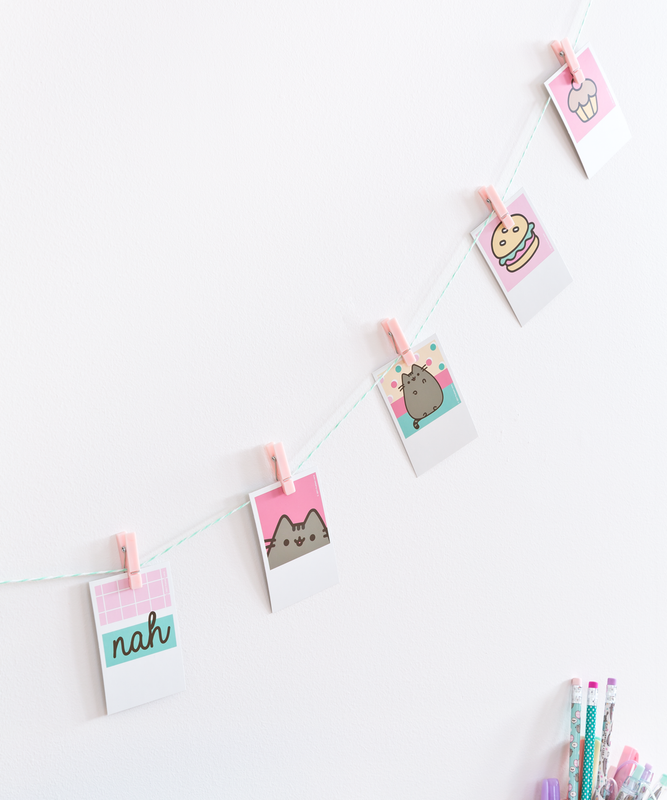 Pusheen Hanging Photo Clips