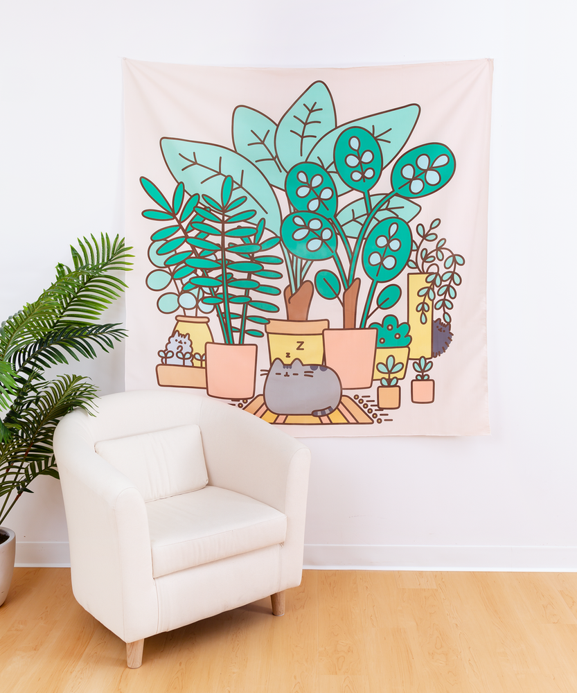 Pusheen & Plants Tapestry
