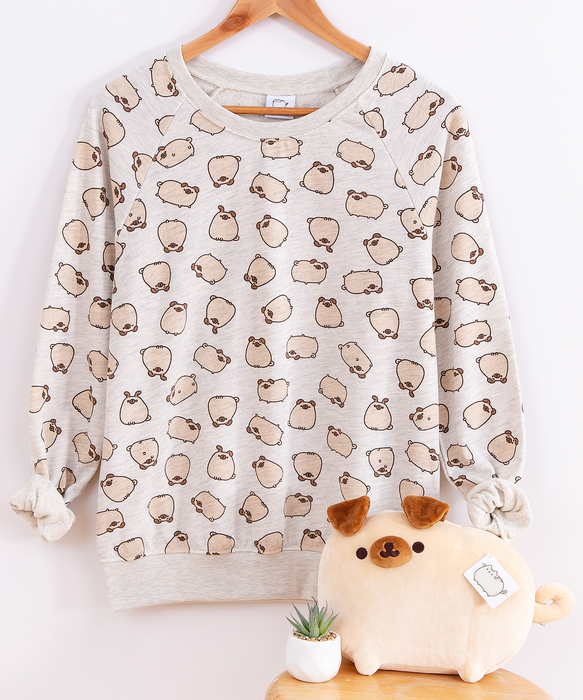 Pugsheen Print Ladies Sweatshirt