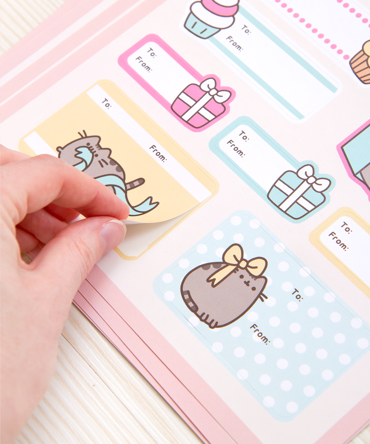 Pusheen Holiday Gift Tag Labels (Pack of 6)