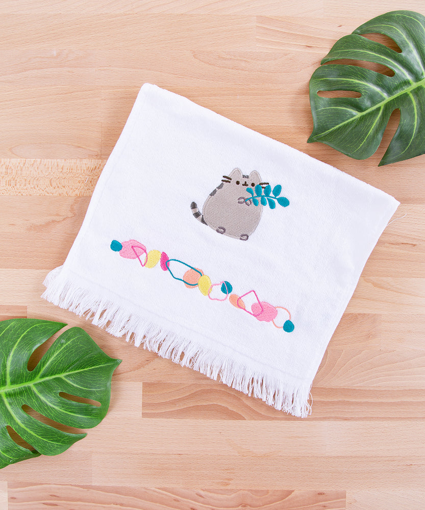 Pusheen Garden Embroidered Hand Towel