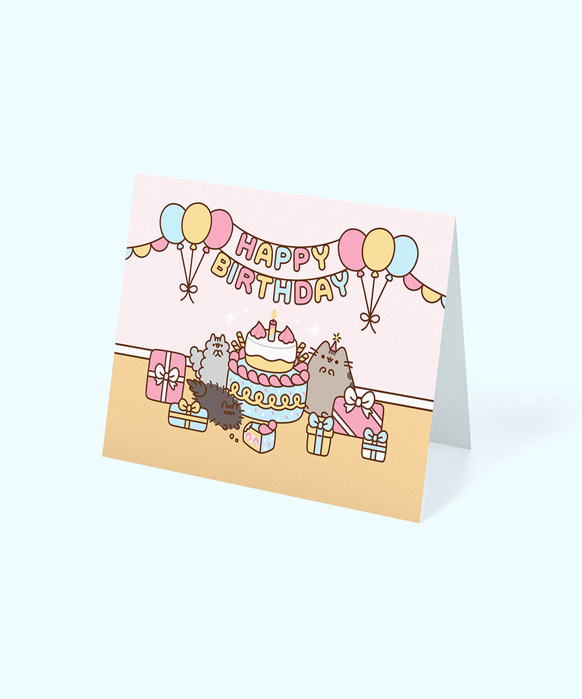 Pusheen Happy Birthday Card