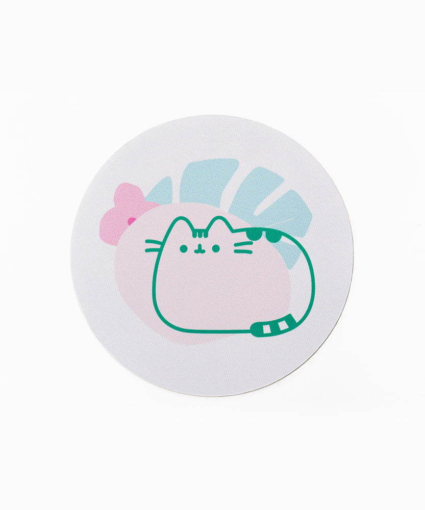 Pusheen Plant Mouse Pad