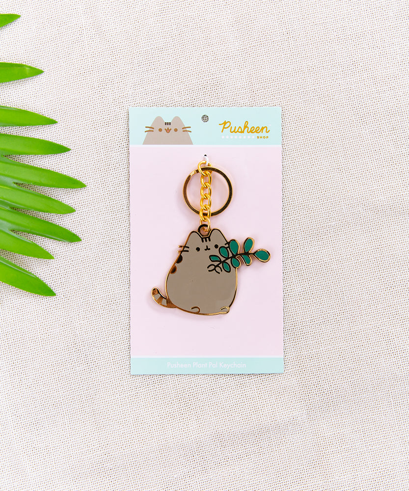 Pusheen Plant Pal Keychain