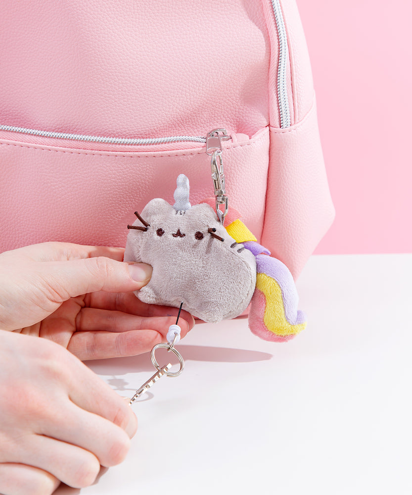 Pusheen Plush Retractable Keychain