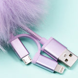 Pusheen & Stormy Pom Pom Charge Cord